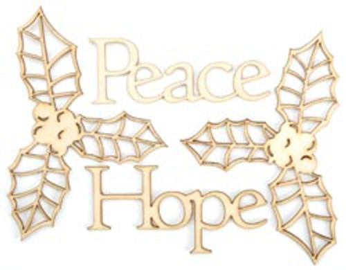 Wood Flourishes Collection Peace Wood Flourishes by Kaisercraft