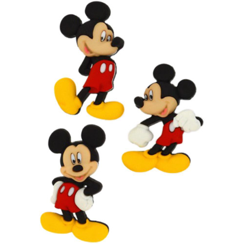 Disney Dress It Up Collection Mickey Mouse Scrapbook Button Embellishments by Jesse James Buttons