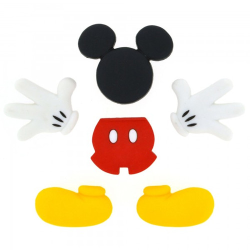 Disney Dress It Up Collection Mickey Mouse Body Parts Scrapbook Button Embellishments by Jesse James Buttons