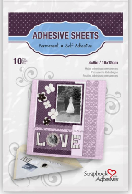 Permanent 4 x 6 Adhesive Sheets by Scrapbook Adhesives - Pkg. of 10