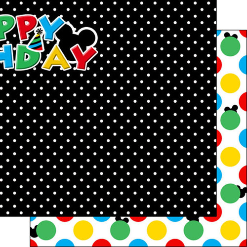 Magical Birthday Collection Right 12 x 12 Double-Sided Scrapbook Paper by Scrapbook Customs