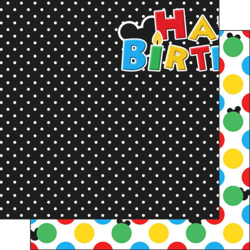 Magical Birthday Collection Left 12 x 12 Double-Sided Scrapbook Paper by Scrapbook Customs