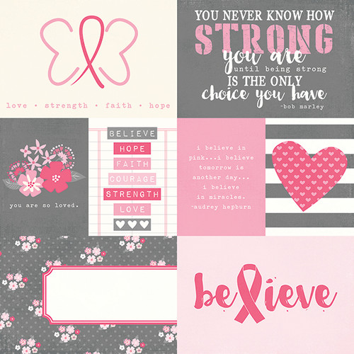 Hope Collection Element 12 x 12 Double-Sided Scrapbook Paper by Simple Stories