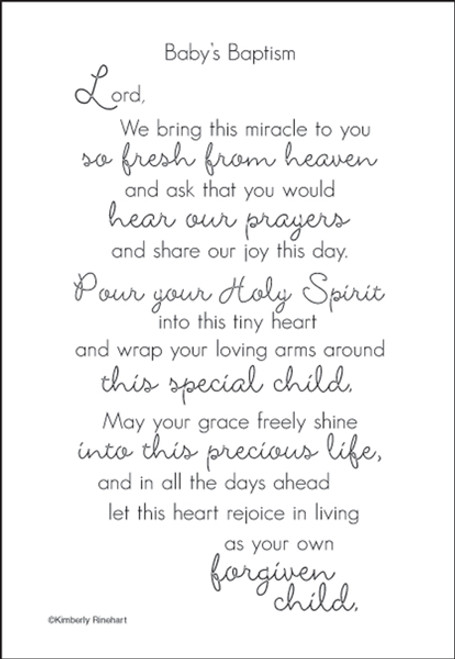 A Poem For A Page Collection Baby's Baptism 5 x 7 Scrapbook Sticker Sheet by It Takes Two