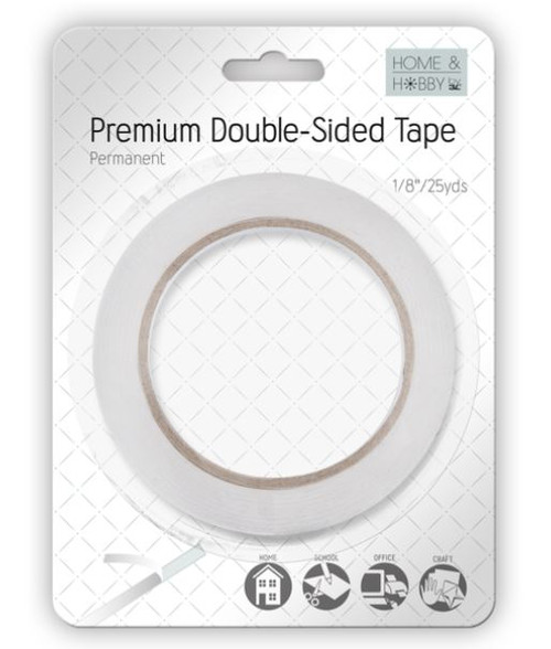 """Home & Hobby Collection Premium Double-Sided Permanent Tape by 3L - 1/8"""" x 25 Yards"""
