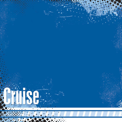 Cruise Collection Scratchy Cruise Left 12 x 12 Scrapbook Paper by Scrapbook Customs