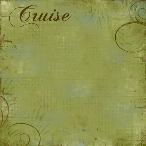 Cruise Collection Jungle Cruise Left 12 x 12 Scrapbook Paper by Scrapbook Customs