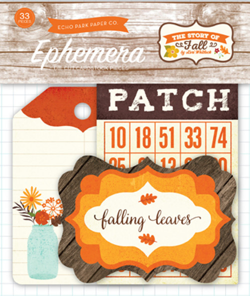The Story of Fall Collection Ephemera Scrapbook Die Cuts by Echo Park Paper
