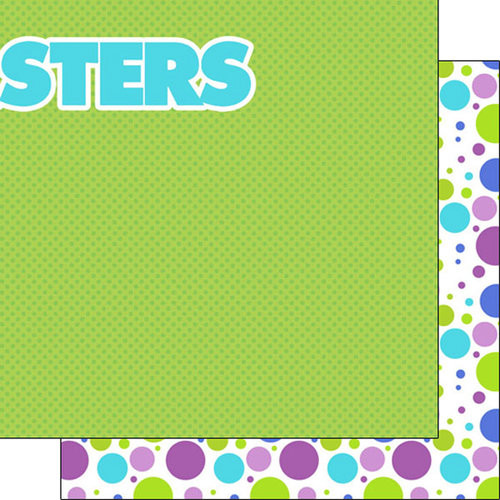Disneyana Monsters Collection Monster Right 12 x 12 Double-Sided Scrapbook Paper by Scrapbook Customs