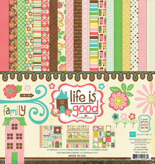 Life Is Good Collection 12 x 12 Scrapbook Kit by Echo Park Paper