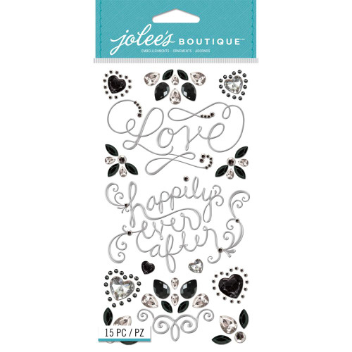 Wedding Bling Icons 5 x 7 Scrapbook Embellishment by Jolee's Boutique