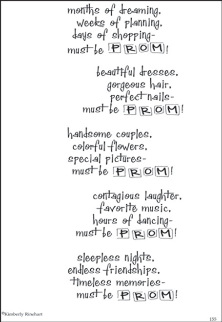 A Poem For A Page Collection Prom 5 x 7 Scrapbook Sticker Sheet by It Takes Two