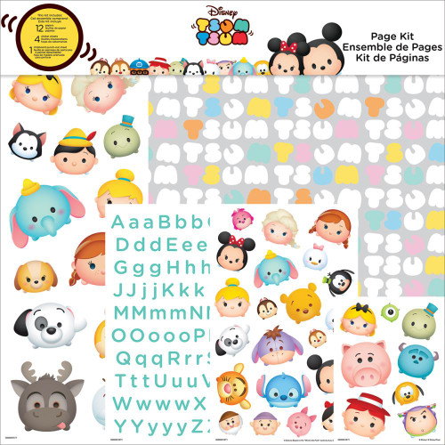 Disney Collection Tsum Tsum Scrapbook Page Kit by Trends International - 17 Pieces