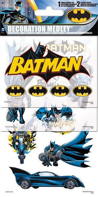 Marvel Comics Collection Batman 4 x 8 Decoration Medley Stickers & Embellishment by Sandylion