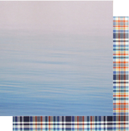 Paddle Board Collection Paddle Board Adventure 12 x 12 Double-Sided Scrapbook Paper by Scrapbook Customs