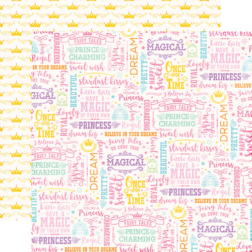 Perfect Princess Collection Wish Come True 12 x 12 Double-Sided Scrapbook Paper by Echo Park Paper