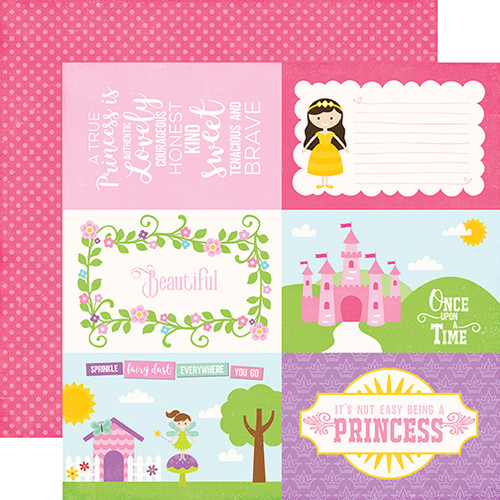 Perfect Princess Collection 4 x 6 Journal Cards 12 x 12 Double-Sided Scrapbook Paper by Echo Park Paper