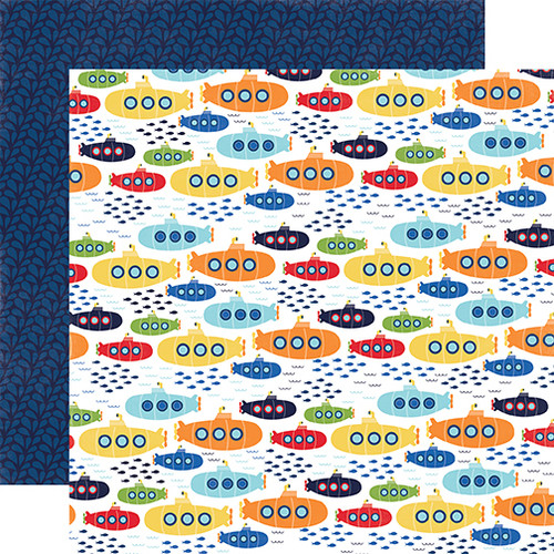 Under The Sea Collection Sea Explorers 12 x 12 Double-Sided Scrapbook Paper by Echo Park Paper