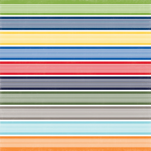 Under The Sea Collection Swimmingly Stripe 12 x 12 Double-Sided Scrapbook Paper by Echo Park Paper
