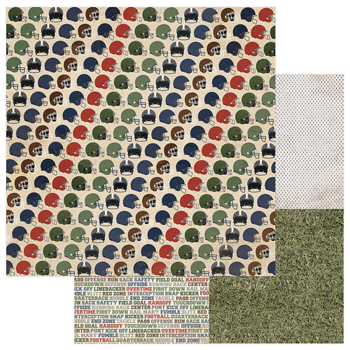 End Zone Collection Tailgate 12 x 12 Double-Sided Scrapbook Paper by PhotoPlay