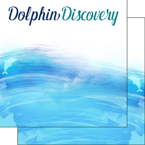 Watercolor Collection Dolphin Discovery 12 x 12 Double-Sided Scrapbook Paper by Scrapbook Customs