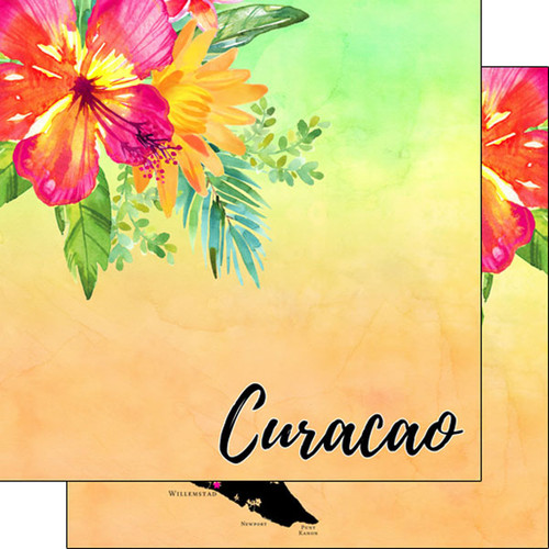 Getaway Collection Curacao 12 x 12 Double-Sided Scrapbook Paper by Scrapbook Customs