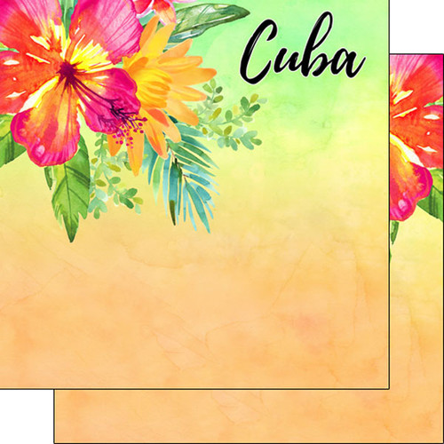 Getaway Collection Cuba 12 x 12 Double-Sided Scrapbook Paper by Scrapbook Customs