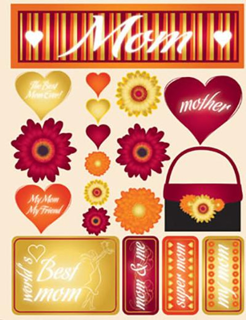 Signature Series Collection  Mom 5 x 6 Scrapbook Embellishment by Reminisce