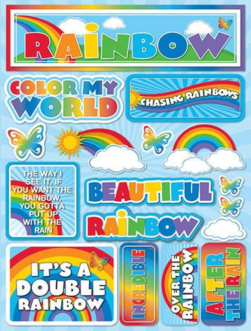 Signature Series Collection  Rainbow 5 x 6 Scrapbook Embellishment by Reminisce