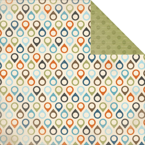 Wanderlust Collection Adventurous 12 x 12 Double-Sided Scrapbook Paper by Kaisercraft