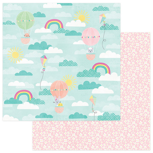 Easter Blessings Collection Peeps 12 x 12 Double-Sided Scrapbook Paper by PhotoPlay Paper