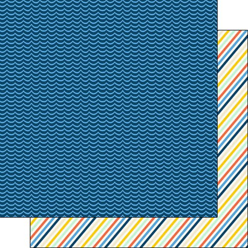 Kayaking Adventure Collection Kayaking 12 x 12 Double-Sided Scrapbook Paper by Scrapbook Customs
