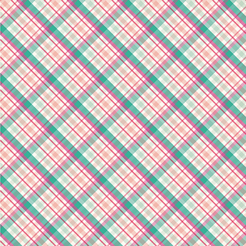 Imagine That Girl Collection Princess Plaid 12 x 12 Double-Sided Scrapbook Paper by Echo Park Paper