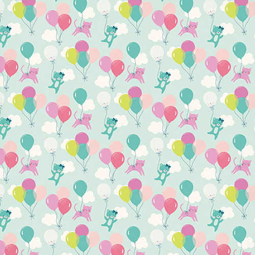 Imagine That Girl Collection High In The Sky 12 x 12 Double-Sided Scrapbook Paper by Echo Park Paper