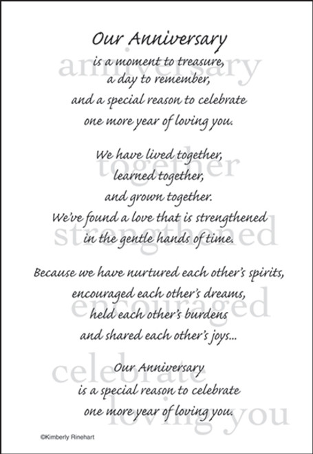 A Poem For A Page Collection Our Anniversary 5 x 7 Scrapbook Sticker Sheet by It Takes Two