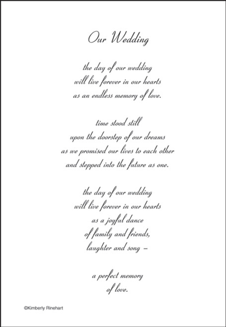 A Poem For A Page Collection Our Wedding 5 x 7 Scrapbook Sticker Sheet by It Takes Two