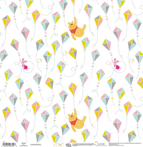 Disney Winnie the Pooh Collection Flying High 12 x 12 Scrapbook Paper by Sandylion