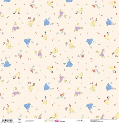 Disney Princesses Collection Our Princesses 12 x 12 Scrapbook Paper by Sandylion