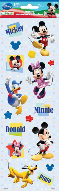 Disney Mickey Mouse Clubhouse Collection Mickey & Friends 4 x 12 Glittered Embellishments by Sandylion