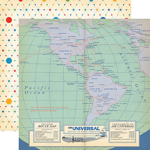 Passport Collection Bon Voyage 12 x 12 Double-Sided Scrapbook Paper by Carta Bella Paper