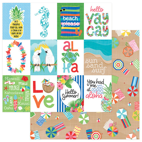 Aloha Collection Aloha Just Beachy 12 x 12 Double-Sided Scrapbook Paper by Photo Play Paper