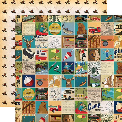 Gone Camping Collection Multi Journaling Cards 12 x 12 Double-Sided Scrapbook Paper by Carta Bella