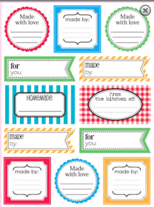 Labels By The Dozen Collection Made By 7 x 9 Scrapbook Sticker Sheet by SRM Press