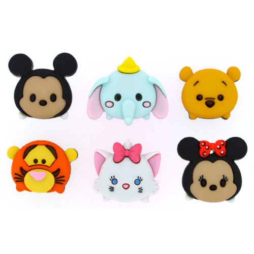 Disney Dress It Up Tsum Tsum Scrapbook Button Embellishments by Jesse James Buttons