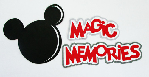 Disneyana Collection Magic Memories Fully-Assembled Title & Mouse Icon by SSC Laser Designs (original design by Miss Kate Cuttables)