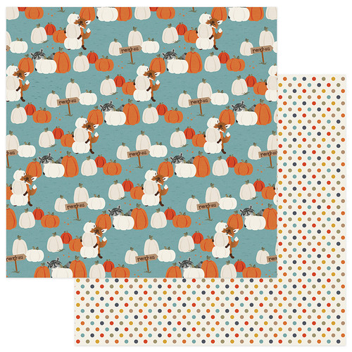 Fall Breeze Collection Pumpkin Patch 12 x 12 Double-Sided Scrapbook Paper by Photoplay Paper