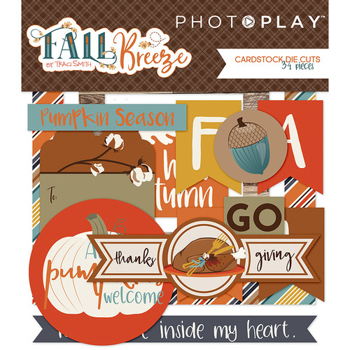 Fall Breeze Collection 4 x 4 Ephemera Die Cuts by Photoplay Paper