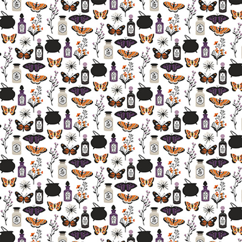 Bewitched Collection Trouble Brewing 12 x 12 Double-Sided Scrapbook Paper by Echo Park Paper