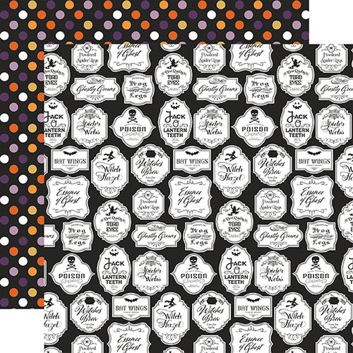 Bewitched Collection Hocus Pocus Potions 12 x 12 Double-Sided Scrapbook Paper by Echo Park Paper