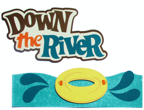 Down The River Title Fully-Assembled 7 x 9 Laser Cut Scrapbook Embellishment by SSC Laser Designs (original design by Miss Kate Cuttables)